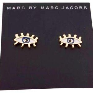 Marc Jacobs Lashed Eye Gold Stud Earrings